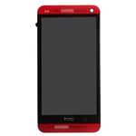 Pantalla&Tactil&Marco para HTC One rojo