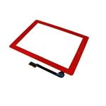 Tactil&Home Boton para iPad 3 iPad 4 rojo